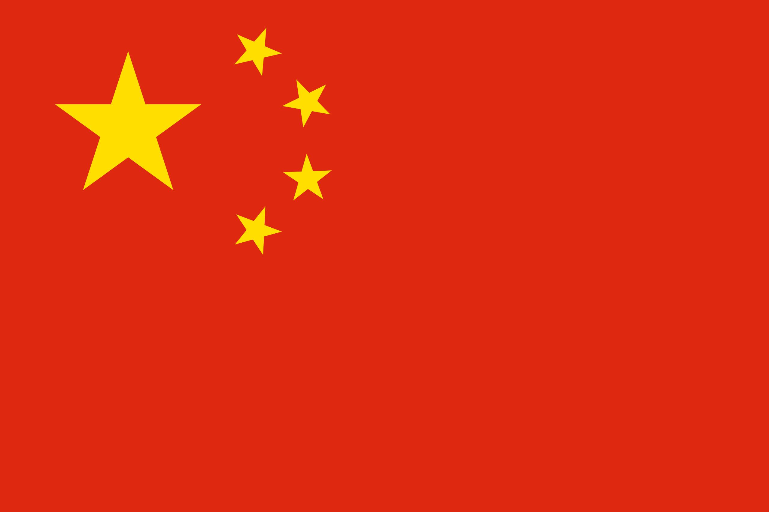 China - bandera