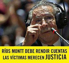 Ríos Montt debe rendir cuentas