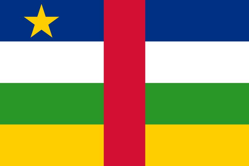 República Centroafricana - bandera