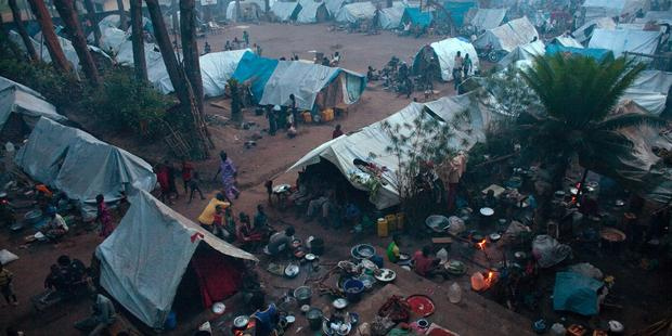 Tens of thousands of people have been displaced by the violence gripping Central African Republic.© MATTHIEU ALEXANDRE/AFP/Getty Images