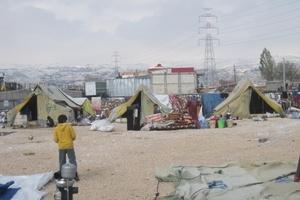 Refugiados sirios en el valle libanés de la Becá