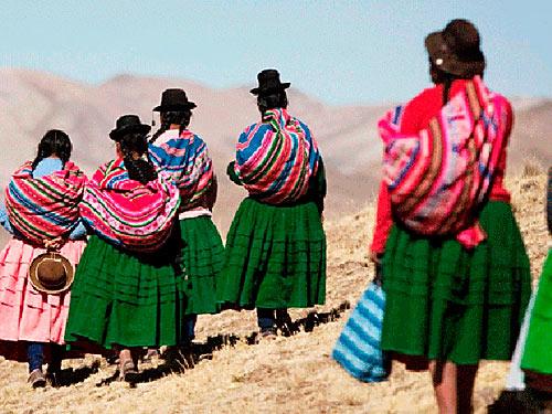 Mujeres indígenas del Perú